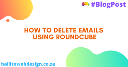 How to delete emails using RoundCube